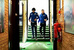 Jonson Clarke-Harris of Bristol Rovers and Josh Barrett of Bristol Rovers arrives at Adam's Park prior to kick off - Mandatory by-line: Ryan Hiscott/JMP - 08/02/2020 - FOOTBALL - Adam's Park - High Wycombe, England - Wycombe Wanderers v Bristol Rovers - Sky Bet League One