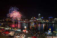 Fireworks seen from Newport in Northern Kentucky