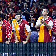 Galatasaray's players during their Euroleague Game 2 basketball match Galatasaray between Unics Kazan at the Abdi Ipekci Arena in Istanbul at Turkey on Thursday, October, 27, 2011. Photo by TURKPIX