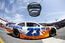 April 13, 2018 - Bristol, Tennessee, United States of America - April 13, 2018 - Bristol, Tennessee, USA: Spencer Gallagher (23) drives his car under Colossus TV during opening practice for the Fitzgerald Glider Kits 300 at Bristol Motor Speedway in Bristol, Tennessee. (Credit Image: © Chris Owens Asp Inc/ASP via ZUMA Wire)