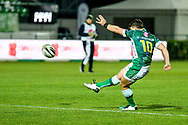 Ian Keatley (Benetton Treviso) conversion during the Guinness Pro 14 rugby union match between Benetton Treviso and Dragons Rugby on November 29, 2020 at the Monigo stadium in Treviso, Italy - Photo Ettore Griffoni / LM / ProSportsImages / DPPI