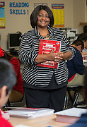 Tanya Thompson teachers eighth grade literature at the Rice School, May 20, 2015.