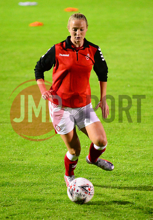 Bristol City Women warm up - Mandatory by-line: Dougie Allward/JMP - 07/10/2020 - FOOTBALL - Twerton Park - Bath, England - Bristol City Women v London Bees - FA Continental Cup