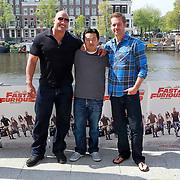 NLD/Amsterdam/20110426 - Photocall Fast & Furious 5, Dwayne Johnson, Justin Lin en Paul Walker