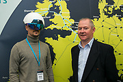 Date: 29/06/2017 Repro free:    Caption: Alexey Potapov (wearing a smart helmet) with Pat Stapleton showcasing Wood Group's Virtual and Augmented Reality capabilities during the Marine Trade Show at the Digital Ocean Conference in Galway. With Ireland's reputation as an ICT hub, combined with our marine capabilities, research and commercialisation, there is a real opportunity for Ireland to lead the Internet of Things (IoT) of the Seas. photo: xposure
