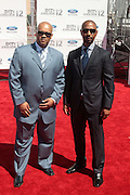 June 30, 2012-Los Angeles, CA : (L-R) Producer Jeff Clangan and Producer Quincy Newell attend the 2012 BET Awards held at the Shrine Auditorium on July 1, 2012 in Los Angeles. The BET Awards were established in 2001 by the Black Entertainment Television network to celebrate African Americans and other minorities in music, acting, sports, and other fields of entertainment over the past year. The awards are presented annually, and they are broadcast live on BET. (Photo by Terrence Jennings)