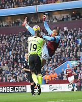 Aston Villa/Wigan Athletic Premier League 31.01.09 <br /> Photo: Tim Parker Fotosports International<br /> John Carew Aston Villa & Titus Bramble Wigan