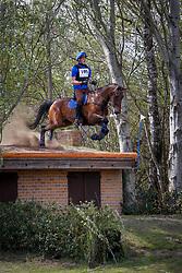 Swaans Kevin, BEL, Ferrum vd Nachtegaele<br /> Nationale LRV-Eventingkampioenschap Ponies Minderhout 2017<br /> © Hippo Foto - Kris Van Steen<br /> 30/04/17