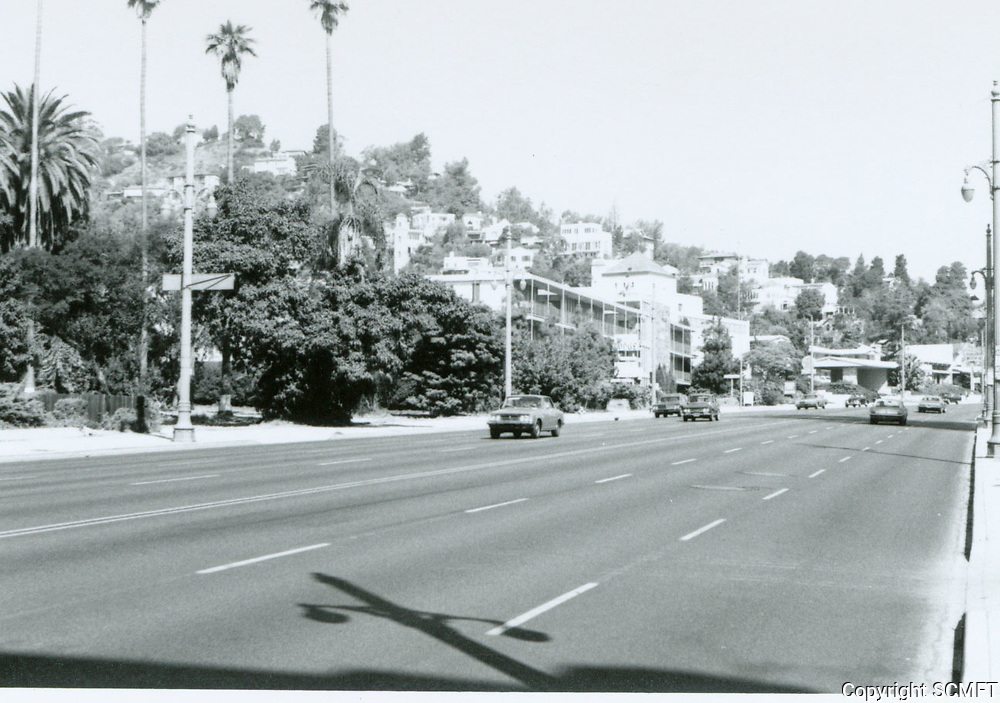 1970 Looking north on Highland Ave. from Franklin Ave.