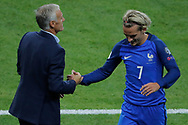 Antoine GRIEZMANN (FRA) and Didier DESCHAMPS (FRA) during the FIFA World Cup Russia 2018, Qualifying Group A football match between France and Netherlands on August 31, 2017 at Stade de France in Saint-Denis, France - Photo Stephane Allaman / ProSportsImages / DPPI