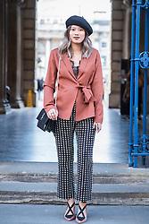 Yanin Namasonthi during London Fashion Week Autumn/Winter 2017 in London.  Picture date: Friday 17th February 2017. Photo credit should read: DavidJensen/EMPICS Entertainment