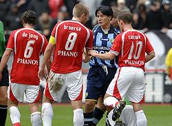 22-10-2006 VOETBAL: UTRECHT - DEN HAAG: UTRECHT<br /> FC Utrecht wint in eigenhuis met 2-0 van FC Den Haag / Michael Mols en Joost Broerse<br /> ©2006-WWW.FOTOHOOGENDOORN.NL