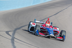 February 9, 2018 - Avondale, Arizona, United States of America - February 09, 2018 - Avondale, Arizona, USA:  Matheus Leist (4) takes his IndyCar Verizon car through the turns during the Prix View at ISM Raceway in Avondale, Arizona. (Credit Image: © Walter G Arce Sr Asp Inc/ASP via ZUMA Wire)