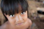 A young girl in Kompong Kleang, a fishing village on the Tonle Sap in Cambodia.