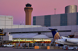 Airplane ready for service at Houston's Intercontinental Airport
