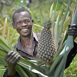 Displaced farmers near Congo border