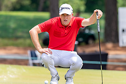 May 4, 2019 - Charlotte, NC, U.S. - CHARLOTTE, NC - MAY 04: Martin Laird looks over his putt on the 3rd hole during the third round of the Wells Fargo Championship at Quail Hollow on May 4, 2019 in Charlotte, NC. (Photo by William Howard/Icon Sportswire) (Credit Image: © William Howard/Icon SMI via ZUMA Press)