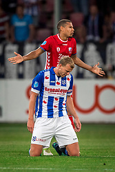 12-05-2018 NED: FC Utrecht - Heerenveen, Utrecht<br /> FC Utrecht win second match play off with 2-1 against Heerenveen and goes to the final play off / Henk Veerman #20 of SC Heerenveen, Ramon Leeuwin #3 of FC Utrecht