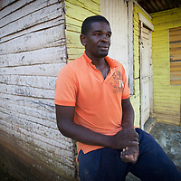 Miguel Sano, 34, leader of a community of Haitian descent in the Dominican Republic. Life for people of Haitian descent is becoming harder under the law 168-13, restricting access to education, health care, and even threatening 'repatriation' to Haiti, even though many of them were born in the Dominican Republic and have never been to Haiti. This Batey and many others is attended by ACT Alliance member Servicio Social de Iglesias Dominicanas, Inc., (SSID).