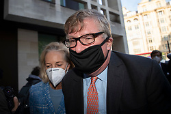 "© Licensed to London News Pictures. 28/09/2020. London, UK. Hedge fund manager Crispin Odey (r)arrives at Westminster Magistrates Court after denying indecently assaulting a woman more than 20 years ago. The Tory donor, 61, was charged on 14 May this year over an alleged incident at an address in Chelsea, west London, in 1998. The Metropolitan police said Odey is alleged to have indecently assaulted ""a woman over 16 years of age"" on or around 13 July 1998 at an address in Swan Walk, Chelsea. The influential financier and founder of Odey Asset Management was a high-profile backer of the Brexit campaign, who donated more than £870,000 to pro-leave groups.  Photo credit: George Cracknell Wright/LNP"