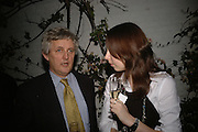 James Hughes-Onslow and Katy Taylor-Richards. BOOK PARTY FOR TABATHA'S CODE BY MATTHEW D'ANCONA. Spectator. Doughty St. London. 11 May 2006. ONE TIME USE ONLY - DO NOT ARCHIVE  © Copyright Photograph by Dafydd Jones 66 Stockwell Park Rd. London SW9 0DA Tel 020 7733 0108 www.dafjones.com