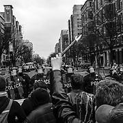Police and Demonstrators Clash in Washington