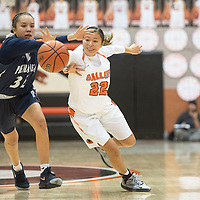 Piedra Vista's Lanae Billy (32) steals the ball from Gallup's Kennedy Smiley (22) Saturday, Dec. 7 at the John Lomasney 45th annual Gallup Girls Invitational Basketball Tournament championship game in Gallup.