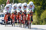 Team Fortuneo - Samsic during the Tour de France 2018, Stage 3, Team Time Trial, Cholet-Cholet (35 km) on July 9th, 2018 - Photo Luca Bettini/ BettiniPhoto / ProSportsImages / DPPI