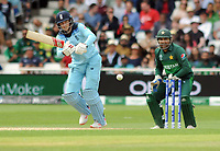 Cricket - 2019 ICC Cricket World Cup - Group Stage: England vs. Pakistan<br /> <br /> Joe Root of England and wicket keeper, Sarfaraz Ahmed, at Trent Bridge, Nottingham.<br /> <br /> COLORSPORT/ANDREW COWIE