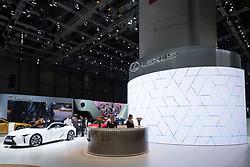 View of Lexus stand at 87th Geneva International Motor Show in Geneva Switzerland 2017
