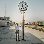 Train station in Dorud, Lorestan province.<br /> <br /> Travelling over 4000km by train across Iran. An opportunity to enjoy Persian hospitality, discover Iran's ancient cities and its varied landscapes, from deserts to mountains.