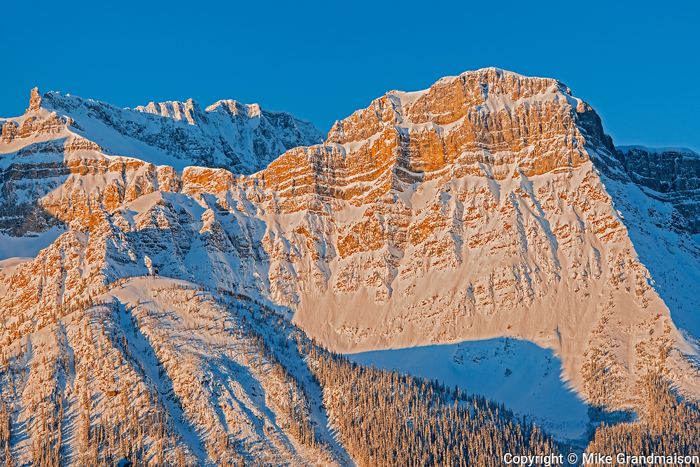 The Waputik Range in the Canadian Rocky Mountains, Banff National Park, Alberta, Canada