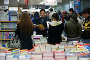Shoppers in Beijing book shop, China