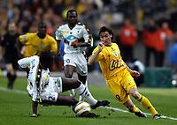 Fotball<br /> Fransk ligacupfinale<br /> Nantes v Sochaux<br /> 17. april 2004<br /> Foto: Digitalsport<br /> NORWAY ONLY<br /> <br />  VIOREL MOLDOVAN (NAN) / SOULEYMANE DIAWARA (SOC)