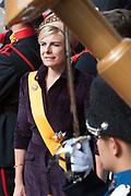 Prinsjesdag 2014 - Aankomst  Gouden Koets op het Binnenhof. /// Parlement Day 2014 - Arrivals Golden Carriage at the Binnenhof.<br /> <br /> Op de foto / On the photo:   prinses Laurentien