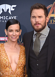 """World premiere of """"Avengers: Infinity War"""" held at the El Capitan Theatre on April 23, 2018 in Hollywood, CA. © O'Connor/AFF-USA.com. 23 Apr 2018 Pictured: Evangeline Lilly and Chris Pratt. Photo credit: O'Connor/AFF-USA.com / MEGA TheMegaAgency.com +1 888 505 6342"""