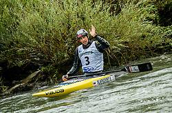 Alexander Slafkovsky of Slovakia competes during Canoe Single (C1) Men Final race of 2018 ICF Canoe Slalom World Cup 4, on September 1, 2018 in Tacen, Ljubljana, Slovenia. Photo by Vid Ponikvar / Sportida