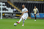 Swansea city's Chico Flores . Pre-season friendly match, Swansea city v Blackpool at the Liberty Stadium in Swansea, South Wales on Tuesday 7th August 2012. pic by Andrew Orchard, Andrew Orchard sports photography,