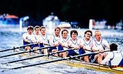 Henley. England, 1989 Henley Royal Regatta, River Thames, Henley Reach,  [© Peter Spurrier/Intersport Images], The Grand Challenge Cup, Hansa Dortmund, West Germany