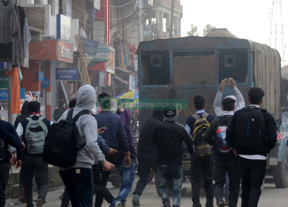April 16, 2018 - Anantnag, Jammu & Kashmir, India - Students protest at Anantnag in solidarity with  Kathua rape victim and demand justice for Asifa. (Credit Image: © Muneeb Ul Islam/Pacific Press via ZUMA Wire)