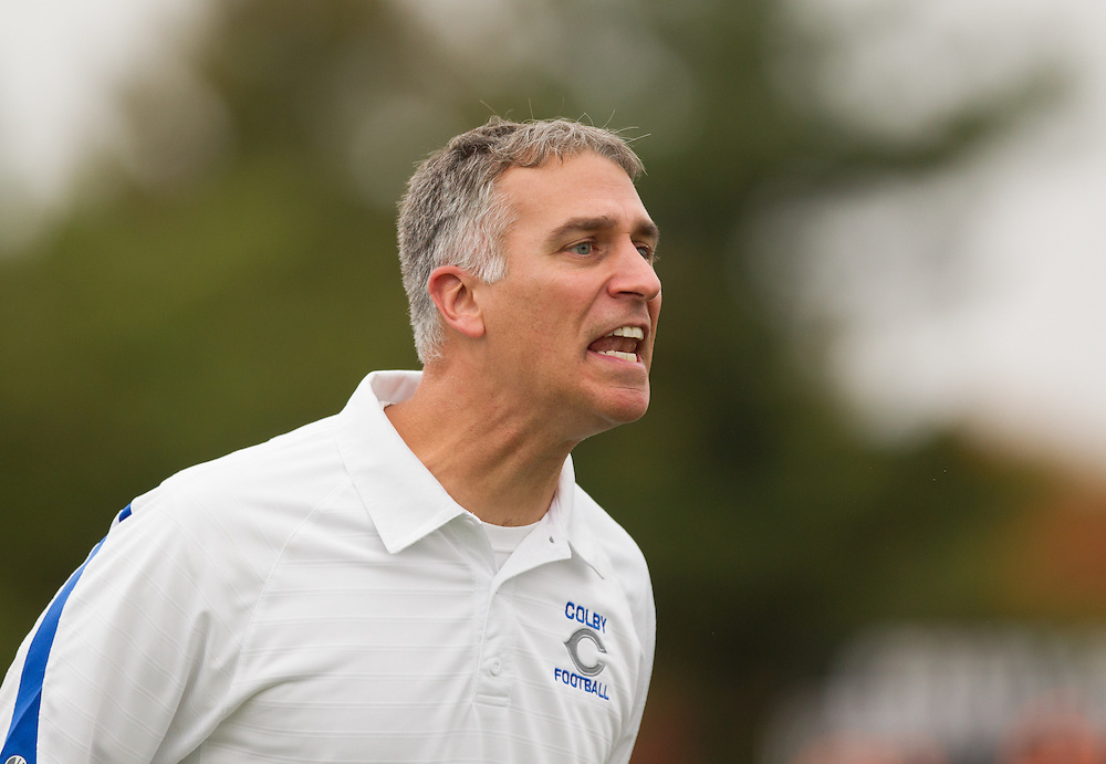 Jonathan Michaeles, of Colby College, during a NCAA Division III football game on October 4, 2014 in Waterville, ME. (Dustin Satloff/Colby College Athletics)