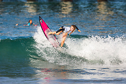 Makena Burke (USA) advances to the Quarterfinals of the 2918 Junior Women's VANS US Open of Surfing after placing second in Heat 3 of Round 1 at Huntington Beach, CA, USA.