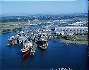 "Ackroyd C03738-.2 ""City of Portland. Port of Portland. September 11, 1974"" ""Swan Island drydock"" (tankers at drydock & at berth)"