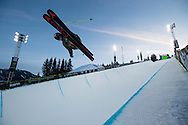 Ayana Onozuka during Women's Ski Superpipe Practice during 2015 X Games Aspen at Buttermilk Mountain in Aspen, CO. ©Brett Wilhelm/ESPN