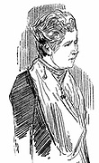 Annie Besant (born  Wood - 1847-1933). British socialist and theosophist. Wood engraving 1890.