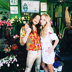 """Jenny Elvers releases a photo on Instagram with the following caption: """"#dreamteam #dreamdate #riccadosdreamdate #filmfestm\u00fcnchen2017 #m\u00fcnchen #viktualienmarkt #flowers #herrlich #einhorn #meerjungfrau #fun #keepmovingforward @zara @riccardosimonetti @_celebritynetwork_ @mgm.models @martinbaudrexel @eentertainmentde @nbcuniversal"""". Photo Credit: Instagram *** No USA Distribution *** For Editorial Use Only *** Not to be Published in Books or Photo Books ***  Please note: Fees charged by the agency are for the agency's services only, and do not, nor are they intended to, convey to the user any ownership of Copyright or License in the material. The agency does not claim any ownership including but not limited to Copyright or License in the attached material. By publishing this material you expressly agree to indemnify and to hold the agency and its directors, shareholders and employees harmless from any loss, claims, damages, demands, expenses (including legal fees), or any causes of action or allegation against the agency arising out of or connected in any way with publication of the material."""