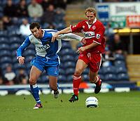 Fotball<br /> Premier League 2004/05<br /> Blackburn v Middlesbrough<br /> 16. oktober 2004<br /> Foto: Digitalsport<br /> NORWAY ONLY<br /> Ray Parlour Middlesbrough/Brett Emerton B/Rovers