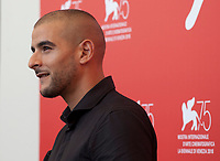 Actor  Sofiane Zermani at the photocall for the film Freres Ennemis (Close Enemies) at the 75th Venice Film Festival, on Saturday 1st September 2018, Venice Lido, Italy.