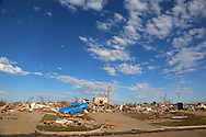 Almost nothing is left of the neighborhood near the Plaza Towers elementary school in Moore, Oklahoma May 22, 2013. A massive tornado tore through a suburb of Oklahoma City, wiping out whole blocks and killing at least 24.   REUTERS/Rick Wilking (UNITED STATES)