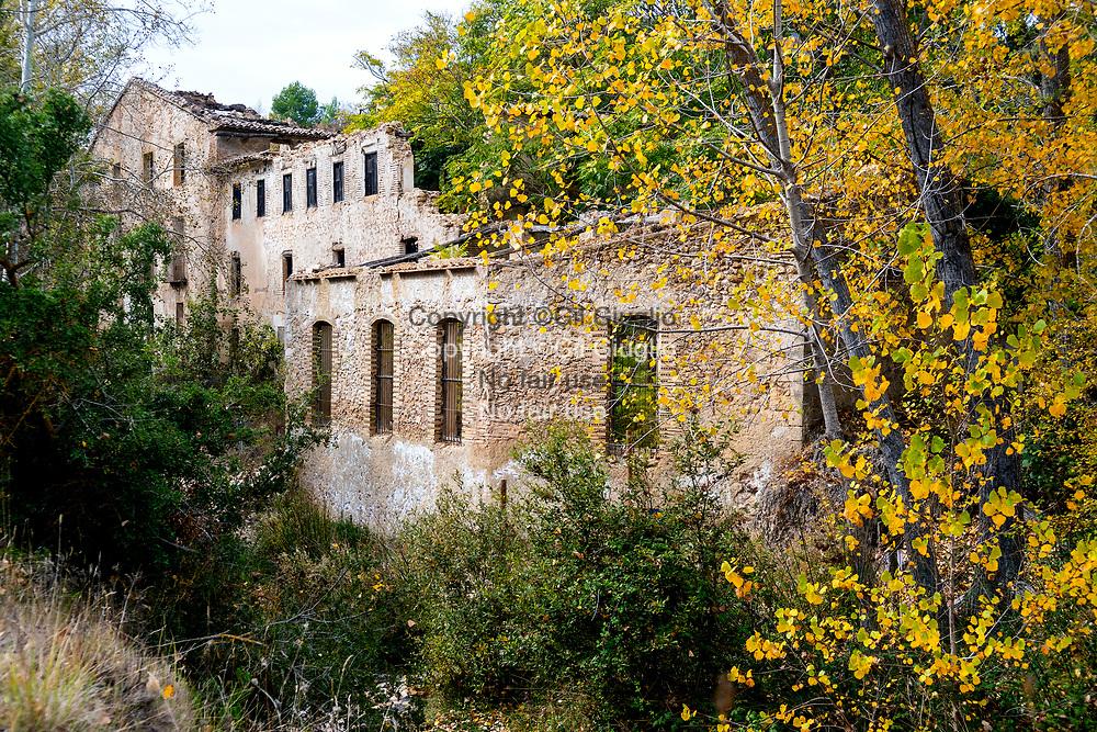 Spain, Province of Alicante; Natural park of Sierra Mariola, former textile dye works  // Espagne , Province d'Alicante, Parc naturel de la Sierra Mariola, ancienne manufacture de teinture de textile